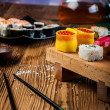 Stock Photo: Japanese sushi set, oriental theme