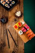 Colorido oriental sushi — Foto de Stock