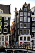 Velho maravilhosa cidade de amsterdam, naderlands — Fotografia Stock