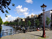 Wonderful old Amsterdam city, Naderlands — Stock Photo