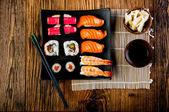 японский суши набор — Стоковое фото