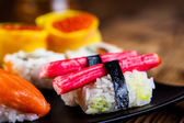 Fresh and tasty sushi from Japan — Stock Photo