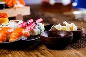 新鮮でおいしい寿司、日本から — ストック写真
