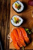Tasty sushi set, Japanese food — Stock Photo