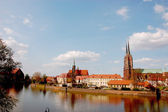 Capital city of Lower Silesia, colorful Wroclaw — Stock Photo