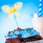 Постер, плакат: Colorful sweets candy theme with muffins