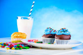 Sweet theme with home baked — Stock Photo