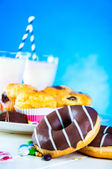 Saturated composition of delicious sweets — Stock Photo