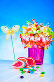 Sweet and tasty muffins, colorful sweets — Stock Photo