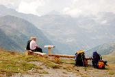 Alpina landskap av berg — Stockfoto