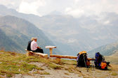 Paisaje alpino natural de montañas — Foto de Stock