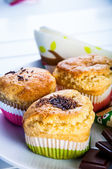 Colorful world of delights, muffins — Stock Photo
