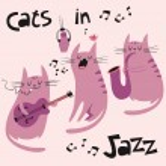 Cats in jazz vector illustration — Stock Vector #39853063