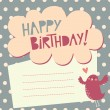Birthday greeting card — Vector de stock