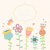 Floral διάνυσμα ευχετήρια κάρτα — Διανυσματικό Αρχείο