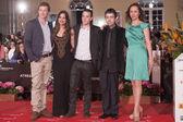 The actors Ana Otero and Paula Sanabria, the actors Daniel Casti — Stock Photo