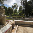 Garden of the Lions in the Maria Luisa Park. — Stock Photo