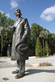Monument to Anibal Gonzalez in the Maria Luisa Park in Seville, — Stock Photo
