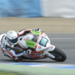 Постер, плакат: Training of Moto 2 and Moto 3 in Jerez Spain Day 1