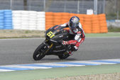 Training of Moto 2 and Moto 3 in Jerez, Spain. Day 1.  — Stockfoto