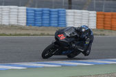 Szkolenia i moto 2 moto 3 w jerez, hiszpania. dzień 1. — Zdjęcie stockowe