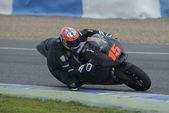 Utbildning av moto 2-moto 3 i jerez, spanien. dag 1. — Stockfoto