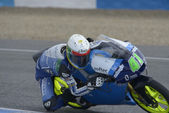 Training of Moto 2 and Moto 3 in Jerez, Spain. Day 1. — Stock Photo