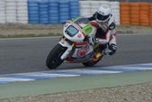 Training of Moto 2 and Moto 3 in Jerez, Spain. Day 1.  — Foto Stock