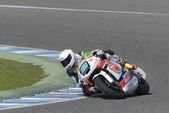 Moto2 test at Jerez racetrack - Day 2. — Stock Photo