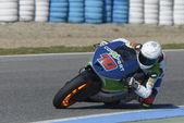 ヘレスの競馬場 - で moto2 テスト 2 日目. — ストック写真