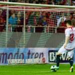 SEVILLA, ESPANA, 2 DE MARZO DE 2014:  Gol de Gameiro de un pase  — Stock Photo #41964193