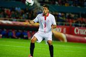 El jugador del Sevilla FC, Trochowski, en el encuentro entre el — Stock Photo