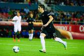 El jugador de la Real Sociedad Jose Angel en el encuentro entre  — Zdjęcie stockowe