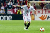 Sevilla FC vs Real Betis Europa League 2014 round of. — Foto de Stock