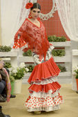 II Edition Contest of Flamenco Fashion Ikea Sevilla — Stock Photo
