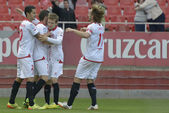Match Sevilla FC - Granada FC for Week 34 of the 2013-2014 Liga  — Стоковое фото