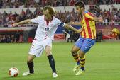 塞维利亚俱乐部-巴伦西亚 fc 回合半决赛冠军联赛 2 — 图库照片