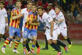 Sevilla FC - Valencia FC Semifinal leg of the Champions League 2 — Stock Photo