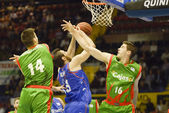 Match Cajasol - Estudiantes for Week 29 of the spanish basket 20 — Stock Photo