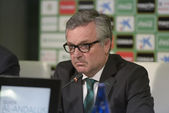 The president Manuel Dominguez Platas of Real Betis Football app — Stock Photo