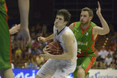Encuentro de baloncesto Cajasol - Fiatc — Stock Photo