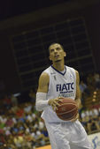 Encuentro de baloncesto Cajasol - Fiatc — Stockfoto