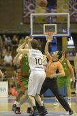 Encuentro de baloncesto Cajasol - Fiatc — Foto de Stock