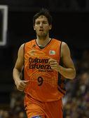 Basket match Cajasol - Valencia — Stock Photo