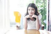 Nice asian women portraut indoor — Foto Stock