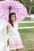 Thai women portrait outdoor — Stock Photo