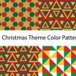Christmas pattern vector set — Stock Vector