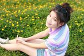 Portrait women natural environment — Stock Photo