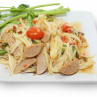 Thai food papaya salad — Stock Photo
