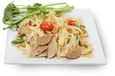 Thai food papaya salad — Stock Photo